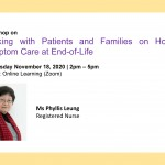 Workshop on Working with Patients and Families on Holistic Symptom Care at End-of-Life