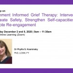 Workshop on Attachment Informed Grief Therapy: Interventions to Create Safety, Strengthen Self-capacities and Promote Re-engagement